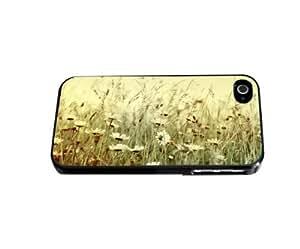 Vintage White Wild Flowers Background Hard Snap on Phone Case (iPhone 4/4s)