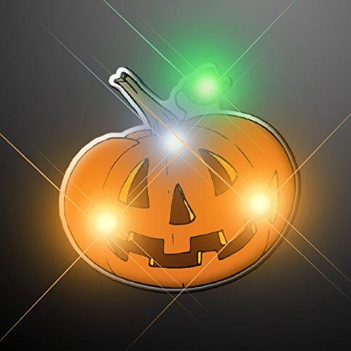 Pumpkin Flashing LED Light Up Body Light Pins (Set of (Halloween Flashing Pin)