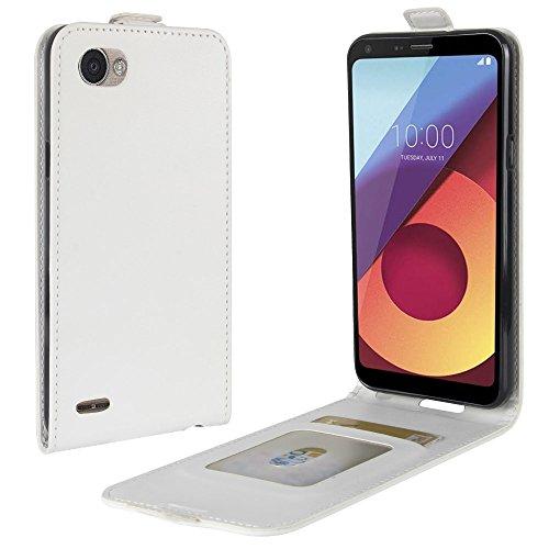 OFU® Para LG Q6 Funda,PU Hybrid Card Carry Pocket Wallet Slot,Cartera Cuero Funda de Piel Wallet Case para LG Q6 Carcasa Flip Case Cover(blanco) blanco