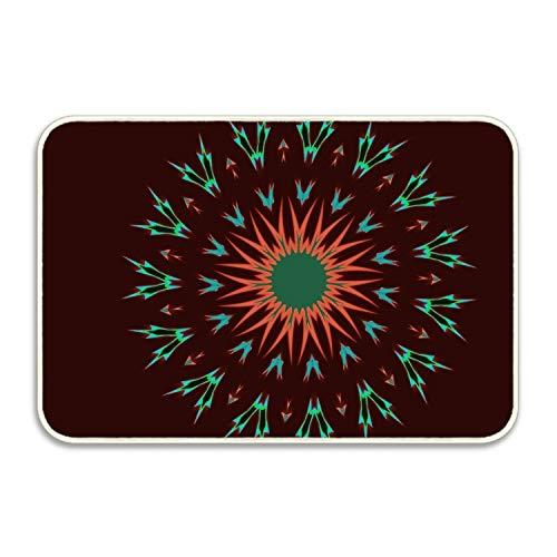 - Funny Abstract Digital Art Circle Doormat Decorative Floor Mat Kitchen,Bathroom Rug Non Slip Inside Doormat