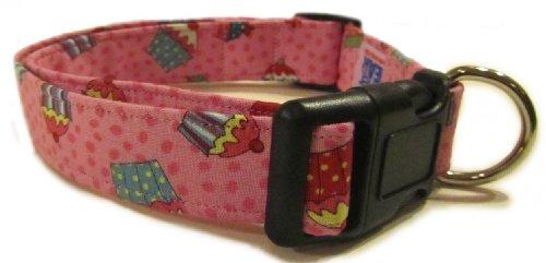 (Adjustable Dog Collar in Birthday CupCakes (Handmade in the U.S.A.))