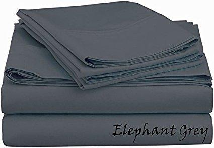 Bed Sheet Set (King - Grey) - Deep Pocket ( 25