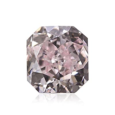 0.92 Carat Fancy Pink Loose Diamond Natural Color Radiant Cut GIA Certified