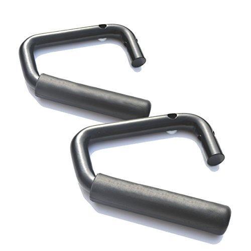 Vulcan-X Front Grab Handles (1 Pair) Quality Solid Steel Front Grab Handles (1 Pair) for Jeep JK Wrangler 2-Door and 4-Door 2007 – 2017 (Black and 2pcs)