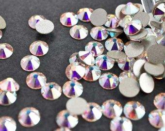 Swarovski Crystals Cristal Aurore Boreale (001 Ab) faux diamant Nail Art- 2.6Mm (Ss9) 60 Pieces Swarovski Element