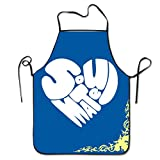 img - for Boy Soulmate Heart Classic Pattern Chef Kitchen Apron Cooking Black book / textbook / text book