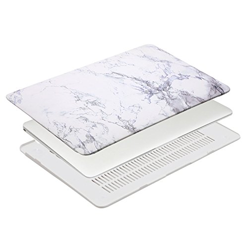 MOSISO Plastic Pattern Hard Case Shell with Keyboard Cover with Screen Protector Compatible MacBook Air 13 Inch (Model: A1369 and A1466), White Marble by MOSISO (Image #5)