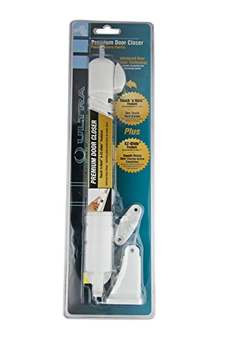 Set of 2 Ultra Hardware White EZ Glide Door Closer Bundled by Maven Gifts by World & Main (Image #2)
