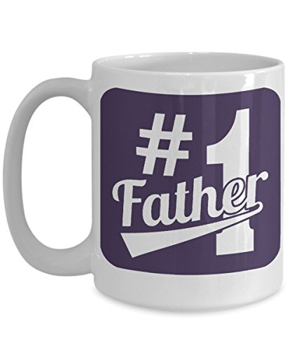 Father Number One #1 Coffee Mug Gift For Dad