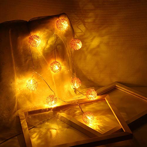 Christmas Candlelight Bulbs - Dirance Various Shape Battery Powered LED Waterproof Copper Wire Fairy String Lights Bulb Lamp Night Light For Outdoor Garden Party Festival Xmas Decoration (Round Ball)
