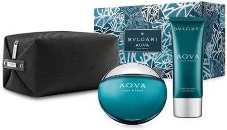 Bvlgari Aqua EDT + 100ML Aftershave Balm + Pouch, 100 ml