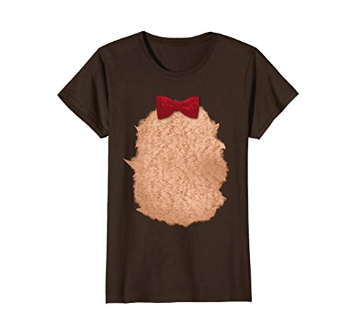 Womens Teddy Bear Halloween Christmas DIY Costume T-Shirt