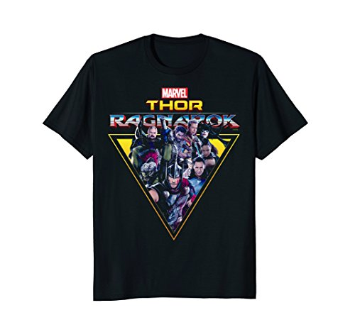 Marvel Thor Ragnarok Heroes Villains Triangle T-Shirt