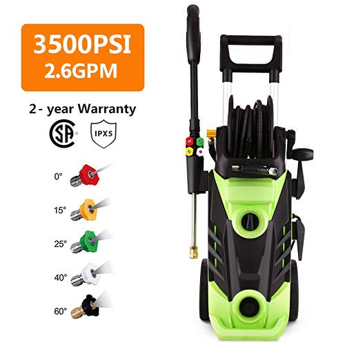 Homdox 3000 PSI Electric Pressure Washer, 1800W Power Washer, 2.4GPM High Pressure Washer, Professional Washer Cleaner Machine with Hose Reel and 4 Interchangeable Nozzles