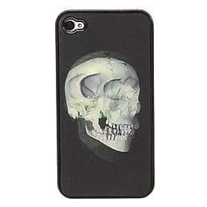 GONGXI- Multi-dimensión cráneo 3D Cambiar patrón protector de la cubierta de plástico duro de nuevo caso para el iphone 4/4S