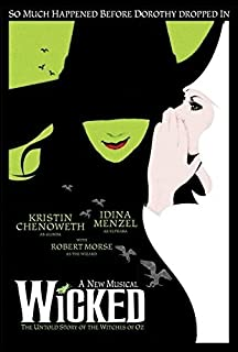 Musical Poster Wicked Available As Framed Canvas Many Sizes