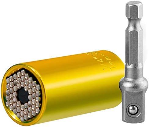 1st market トルクレンチ7-19mmヘッドソケットスリーブパワードリルラチェットブッシングスパナキーマジックグリップマルチハンドツールスタイリッシュで人気の