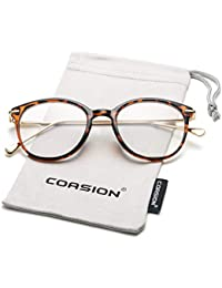 2388a43e9c2c Vintage Round Clear Glasses Non-Prescription Eyeglasses Frames for Women Men