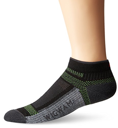 Wigwam Men's Ultra Cool-Lite Ultimax Ultra-Lightweight Low Sock,Black,Large/shoe Size:Men's 9-12,Women's 10-13