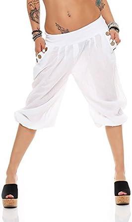cleostyle Cortos Mujer Bermudas, Ligero Ligeros Pantalón Bombacho ...