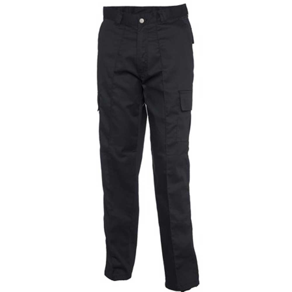 Uneek Mens Cargo Workwear Combat Multi Pocket Action Trousers UC902, Black, Navy Uneek Clothing Cargo Combat