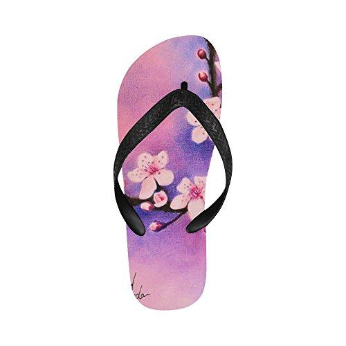 D-story Plum Blossom Flip Flops Sandalias De Playa Para Hombres / Mujeres