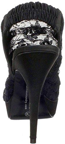 schwarz BEAT Plateausandaletten Chinese Black Textil Laundry HEART gqIwaFA