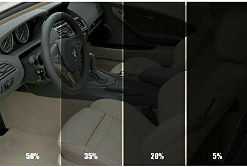 Lámina de tintado negro del 15 % para luna de vehículo (76 cm x 3 m)