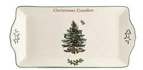 Spode Large Cookie Tray with Sentiment (Rectangular Platter Spode Christmas Tree)