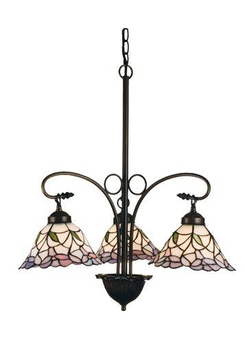 Meyda Tiffany 27419 Daffodil Bell 3 Light Chandelier, 23.75