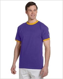 dcae288a Amazon.com: Champion Ringer T-Shirt, Purple/C Gold, Small (0093578944449):  Books