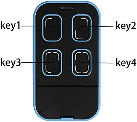 Xihada Universal Garage Door Remote Universal Garage Door Opener Remote Universal Gate Remote Control Homelink Remote Multi Frequency 280mhz 868mhz 1 Black With Blue Amazon Com