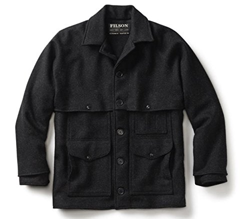 Mackinaw Cruiser Jacket (Filson Clothing: Men's Double Mackinaw Wool Cruiser Coat 83-CHC - Grey - 48)