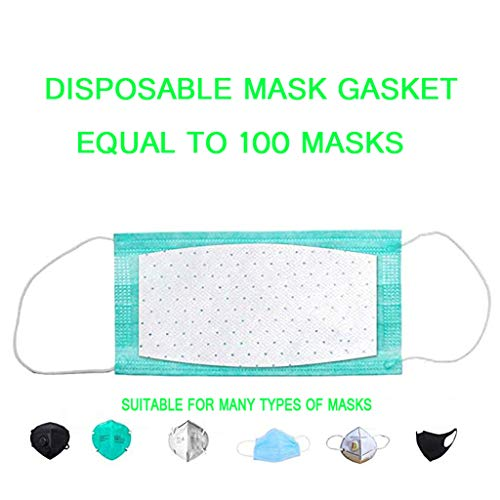 Lxf-xg Disposable Masks Gasket, N95 Mask Unisex Replacement Parts,Face Mask Replacement Pad, N95 Filter Replacement Filter Pads Respirator Mask for Most Mouth Mask,White200pcs