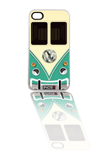 iPhone Case, Retro VW Bus (White ip4 green)