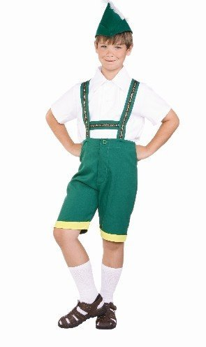 (RG Costumes Bavarian Boy Costume, Green/Yellow/White,)