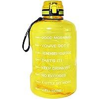 Motiverende waterfles brede mond met tijdmarkering/flip top lekbestendig deksel/één klik open/BPA vrij/meerdere maten en…