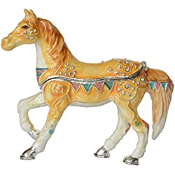 Jiaheyou Horse Trinket Box Horse Collectible Decoration Gifts Jewelry Organizer