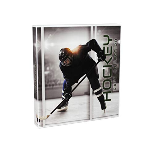 UniKeep Hockey Themed Trading Card Collection Binder with 10 Platinum Series Trading Card Pages. Fully Enclosed Case with a Locking Latch to Keep Cards Secure – Sports Center Store