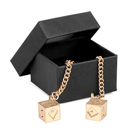 Han's Dice Lucky Charm Golden Dice Pendant for Han Solo and (Gold Car Charm)