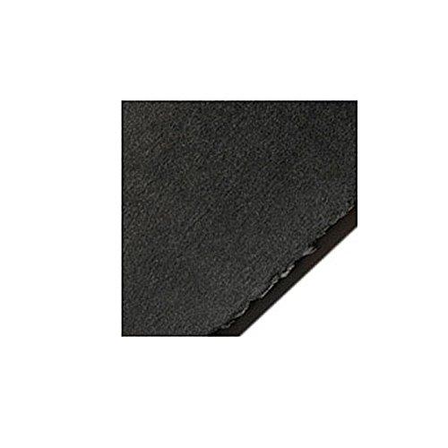 Legion Stonehenge Paper, Cotton Deckle Edge Sheets, 22 X 30 inches, Black, Pack of 10 (F05-STN250BKH10)