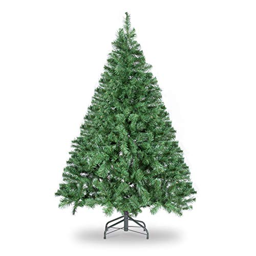 WBHome 5 Feet Premium Spruce Hinged Artificial Christmas Tree, 420 Branch Tips, Unlit (5FT)
