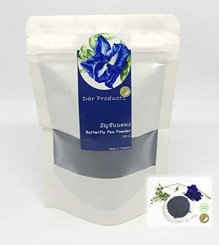 694459cc1cd0 Natural Food Color - Blue Butterfly Pea Powder l Thai Tea 100g (Dar  Products brand)