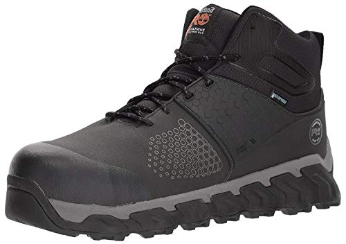 Timberland PRO Men's Ridgework Mid Industrial Boot, Black, 12 M US