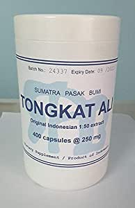 Tongkatali.org's Indonesian 1:50 Tongkat Ali Extract, 400 capsules of 250 mg