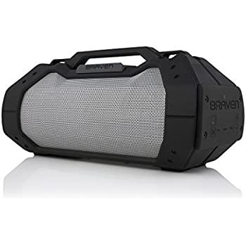 BRAVEN BRV-XXL Large Portable Wireless Bluetooth Speaker [Waterproof][Outdoor] Built-In 15,600mAh Power Bank USB Charger - Black/Titanium