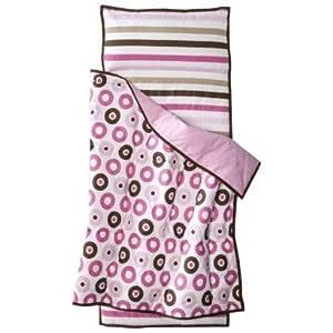 Bacati Mod Dots/STRPS Pink Nap Mat