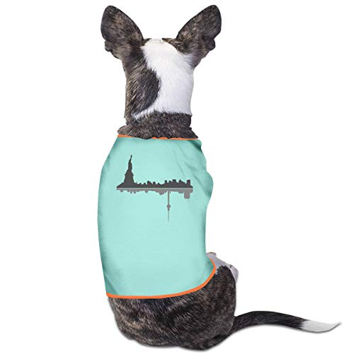 Dog T-Shirt Clothes New York City Doggy Puppy Tank Top Pet Cat Coats Outfit Jumpsuit Hoodie