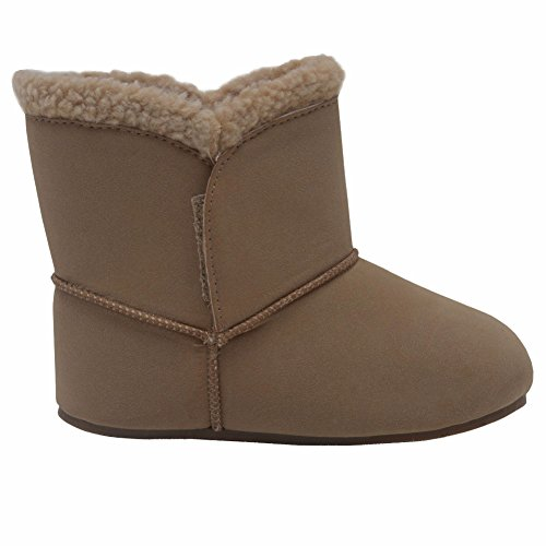 59f679000d55 Modit Girls Tan Cuff Closure Faux Suede Ankle High Boots 2 Baby