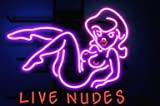 Lives Nudes Bar Girl Handcrafted Neon Light Sign Real Glass NeonSign Beer Bar Pub Recreation Room Game Room Windows Wall Sign 19x15 The Fastest Free Shipping